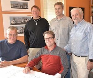 L to R. Joe Cook, Estimater. Bryant Zeph, Project manager. Chapman Smith, President. Jim Quine, Controller. Shapleigh Smith, Project Manager.
